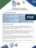 Syllabus del curso Nutrición y toxicología alimentaria