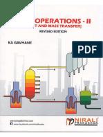 UNIT OPERATIONS - II [Heat and - K. A. GAVHANE.pdf