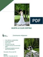 Nunta la Club Cortina