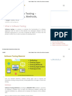 What Is Software Testing - Definition, Types, Methods, Approaches