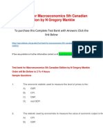 Test Bank for Macroeconomics 5th Canadian Edition by N Gregory Mankiw