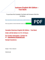 Canadian Business English 6th Edition – Test Bank