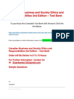 Canadian Business and Society Ethics and Responsibilities 2nd Edition – Test Bank
