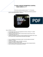 PROCEDIMENTO PARA CARGAR PARAMETROS CONTROL FANUC SERIE 10 2.docx