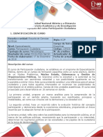 Syllabus del curso Participación Ciudadana