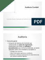 1. Conceitos Gerais e Aplicação da Auditoria Contábil
