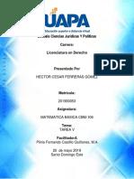 Matematica Basica Cbm-106 Tarea v Uapa Hector Ferreras