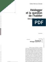 Bonicco-Donato-Heidegger et la question de l'habiterextraits
