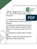 Direito Constitucional - Prof. Rafael Paiva - 17