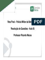 RQ Direito Constitucional - Prof Ricardo Macau 6