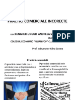 PRACTICI COMERCIALE INCORECTE