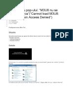 """Rezolvarea pop-ului """"M3U8 nu se poate incarca""""(""""Cannot load M3U8 Crossdomain Access Denied"""")"""