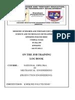 ND MECH ENG PRODUCTION LOGBOOK A4 FINAL