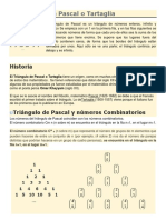 El triángulo de Pascal o Tartaglia