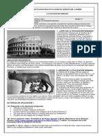 CIENCIAS SOCIALES  6° - LA CIVILIZACIÓN ROMANA