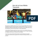 las siete vértices de la Gran Misión Transporte Venezuela