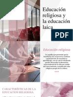 Educación religiosa y la educación laica