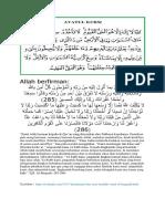 ayat qursi dan al baqarah