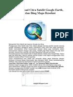Cara Download Citra Satelit Google Earth