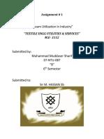 Steam Utilization in Textile Industry