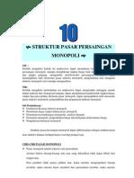 Modul 10 Struktur Pasar Persaingan Monopoli