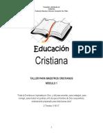 Taller Educación Cristiana Módulo 1 Estudiantes