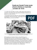 12    TRUMP REVELA INFORME DE LA PRESIDENCIA DE CARTER ACERCA DEL MAR BOLIVIANO