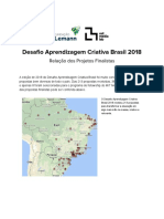 DAC 2018 – Relação Oficial dos Projetos Finalistas
