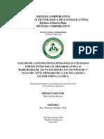 ANÁLISIS DE LAS ESTRATEGIAS PEDAGÓGICAS DE LOS DOCENTES