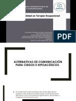 Alternativas de comunicación para ciegos e hipoacusicos