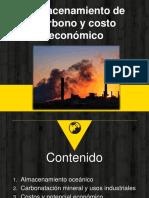 Almacenamiento de carbono y costo económico