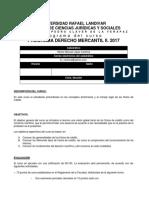 Programa derecho mercantil II.  2017