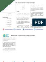 Movimiento Circular Uniformemente Variado Ejercicios Propuestos PDF