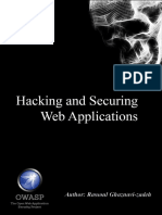 hacking and securing web applications