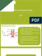 Anestesi pada operasi tiroid
