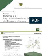 Reforma a la Ley de la Universidad Autónoma del Estado de México 2018