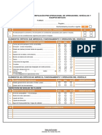 Formato N° 01 Lista de Verificación Pre-Operacional_v03