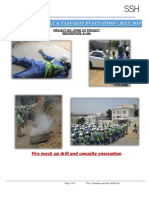 Evacuation fire  mock drill report