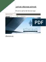 Ethereum Blockchain Doc