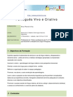 """Acção de Formação """"Português Vivo e Criativo"""""""