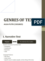 GENRES OF TEXT ppt