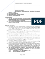 Technical specification for Optical type intruder alert system
