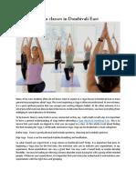 Yoga Classes in Dombivali East