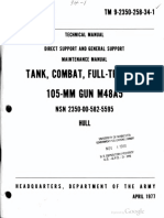 TM 9-2350-258-34-1 Tank, Combat, Full Tracked 105-mm Gun M48A5 Hull 1977