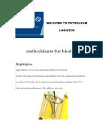 Biodiesel Antioxidants