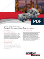 Reavell 20-100 HP Water Cooled Reciprocating Compressor