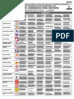 Cartel Candidatos Congresistas - Lima Difusión