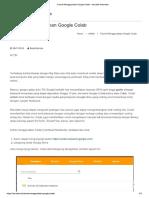 Tutorial Menggunakan Google Colab