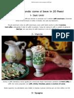 Caffè nel mondo - come si prepara in 20 Paesi