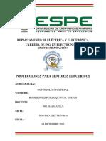 PROTECCIONES PARA MOTORES ELECTRICOS